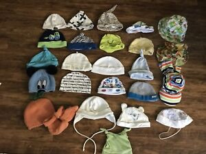 Baby hat and mits lot