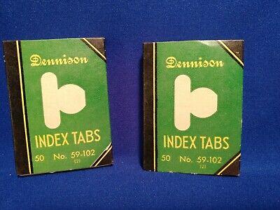 Lot 2 Dennison Vintage Index Tabs 50 Per Box 59-102