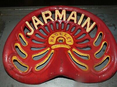 Jarmain Hasley Vintage Cast Iron Tractor Implement Seat Collectibles Xmas