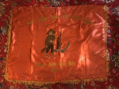 1967 Vietnam War North Vietnamese Divisional Banner Flag Battle of Dak To