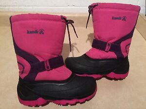 Girls Kamik Insulated Winter Boots Size 3