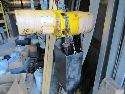 Budgit 12 Ton Electric Chain Hoist C486-2r 16 Fpm 115230 1 Phase With Trolley