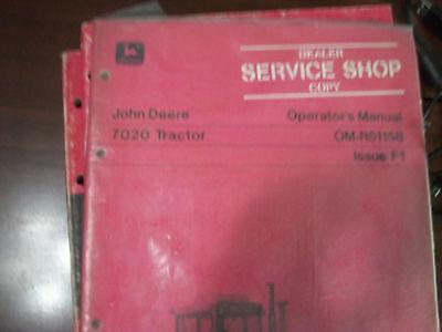 John Deere Tractor Operators Manual 7020 Tractor Issue F1