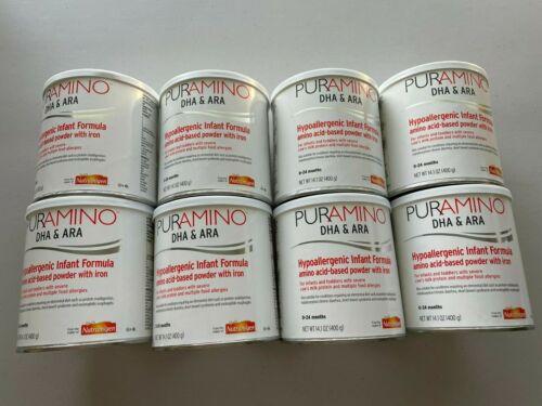 8 Cans Puramino DHA & ARA Powdered Infant Formula w/ Iron 14.1 oz ea 03/01/2023
