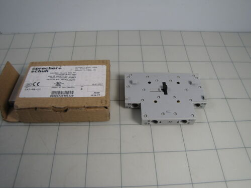 Sprecher Schuh CA7-PA-11 Auxiliary Contact Block for Contactor NEW