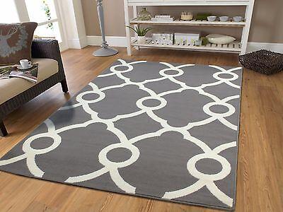 new gray contemporary moroccan trellis area rug