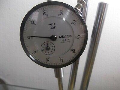 Mitutoyo Magnetic Stand 7010 Sn With Mitutoyo Dial Indicator 2416