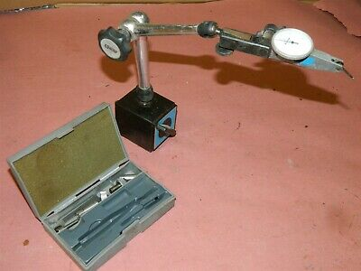 Noga Magnetic Indicator Stand With Mitutoyo 513-212 Dial Indicator