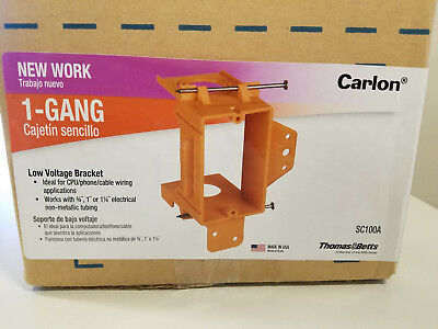 Case Of 24 Carlon Sc100a 1 Gang Low Voltage New Work Bracket Thomas Betts New