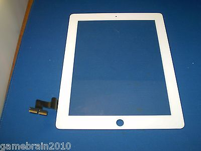 OEM White iPad 2 Touch Front Glass Digitizer! Dead Spot Right Corner (AS IS)!!