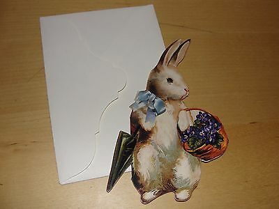 NEW 1990 THE GIFTED LINE Easter Bunny Rabbit Gift Card ~ Blank Inside ~ USA