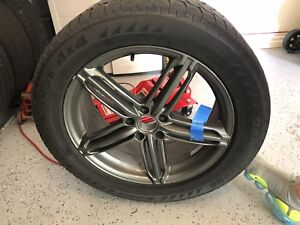 255 50 19 Audi rims and Bridgestone Blizzak winter tires