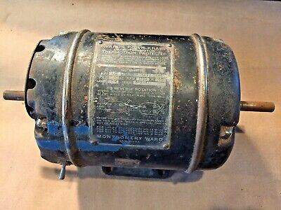 Montgomery Ward Powr-kraft Electric Motor 13 Hp 110 Vac Model Dp A5693-9846