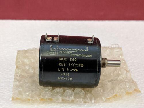 Spectrol Precision Potentiometer Mod 860 / NOS