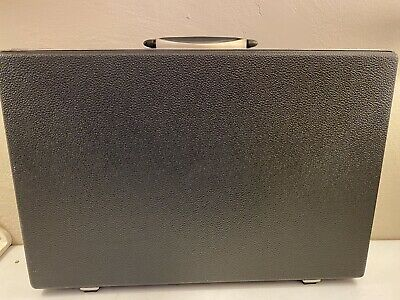 Vintage Samsonite Slim Thin Attache Case Gray Mad Men Style Hard Shell Briefcase
