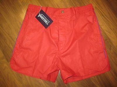 NEW Vtg 70s 80s Vanderbilt RED Striped Mens LARGE Retro TENNIS Track shorts NOS