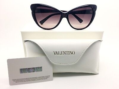 Valentino Sunglasses For Women  V634 S Dark Plum  Made in Italy Authentic + Case