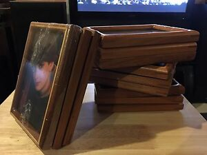Set of 12 wood picture frames