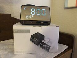 Radio Alarm Clock with Dual USB Charger
