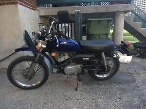 1976 Kawasaki km100 in like new condition 750$