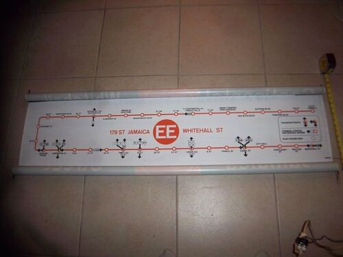 NY NYC SUBWAY ROLL SIGN MAP EE LINE 179 JAMAICA WHITEHALL PRINCE ST TIMES SQUARE