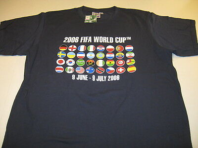 FIFA 2006 WORLD CUP Soccer Germany 32 Teams Country Flags T-Shirt New! NWT Adult ()
