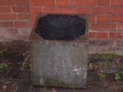 Vintage Galvanised Riveted Water Butt / Planter