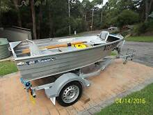 ALUMINIUM BOAT, TINNY, SAVAGE GULL, WITH REGISTERED TRAILER Kariong Gosford Area Preview
