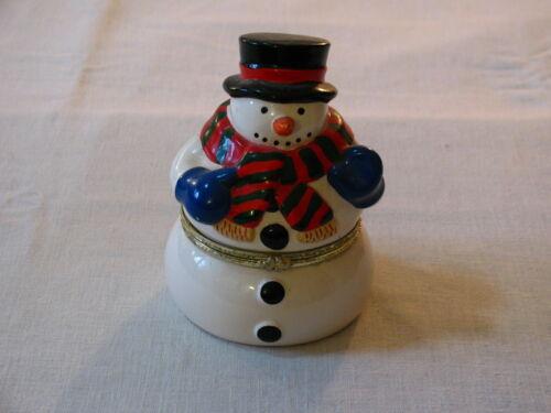 "Mr Christmas 6"" Animated Porcelain Snowman Wind-Up Music Box, Fa-La-La-La"