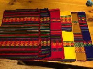 South American theme placemats and table clothes
