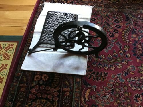 Vintage TREADLE SEWING machine PARTS WHEEL-GUARD-PITMAN-FOOT PEDAL