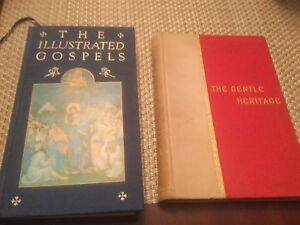 Two religious books gospels and gentle heritage