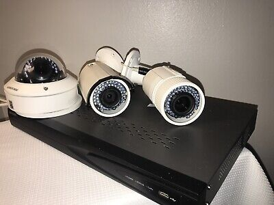 Hikvision LOT IP IR Camera Security System 500gb Recorder  DS - 2CD2642FWD- IZS