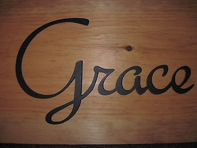 Grace Wrought Iron - Grace-Black Wrought Iron Wall Art Metal Home Decor Primitive