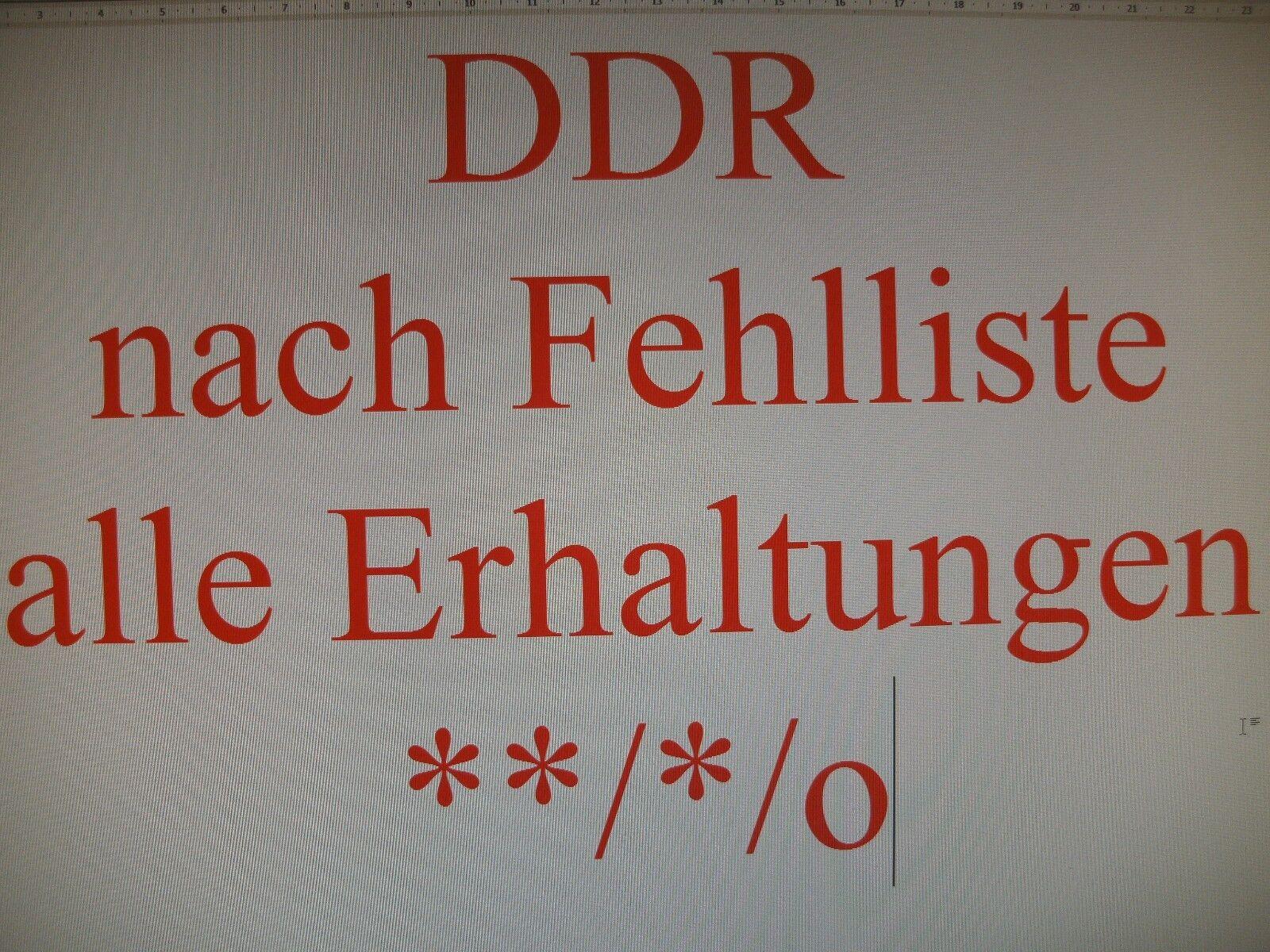 DDR 1949-1954 nach Fehlliste **/*/o wie gewünscht alles vorhanden
