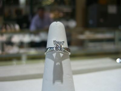 FINE GIA CERTIFIED PLATINUM ENGAGEMENT RING 1.56  D COLOR VS2 CLARITY NEW SIZE 7