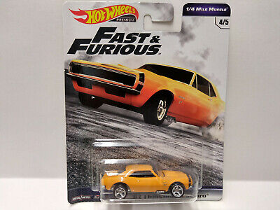 1/64 Hotwheels 67 Camaro ERROR small back wheels Fast Furious Variation card 7