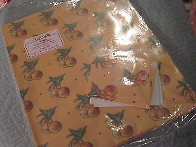 EVERYDAY Gift Wrap Wrapping Paper CURRENT 2 Sheets APPLES Orange Red Green 1755 - Apple Gift Wrap