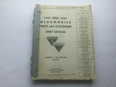 1949 Thru 1965 Oldsmobile Parts and Accessories Body Catalog
