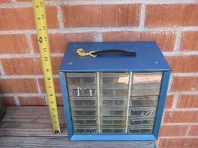 Vintage Akro-mils Metal 18-drawer Hardware Cabinet Organizer Storage Usa