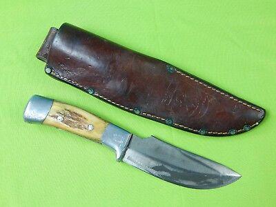 Custom Handmade Rudy R.H. RUANA Small S Model 28C Hunting Skinner Knife & Sheath