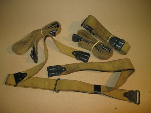 ORIGINAL US WW2 Kerr No buckle Sling Mustard Color Thomp EXCELLENT