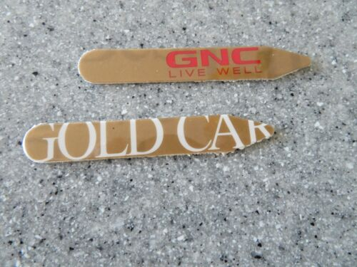 GNC NUTRITION GOLD CARD custom collar stays for dress shirts