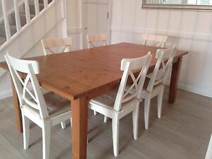Timber extension dining table. Table only, chairs not included. Avalon Pittwater Area Preview