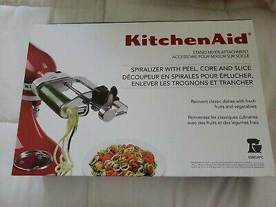 KitchenAid 5 Blade Spiralizer Attachment KSM1APC Stand Mixers Peel Core Slice