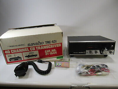 NOS Realistic Navaho TRC-431 CB Base Station new in open box vintage