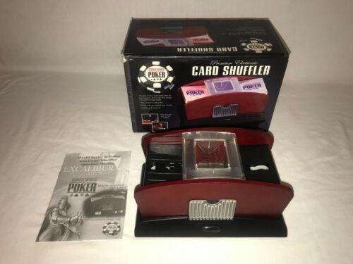 WORLD SERIES OF POKER PREMIUM ELECTRONIC CARD SHUFFLER 2 DECK CARD SHUFFLER