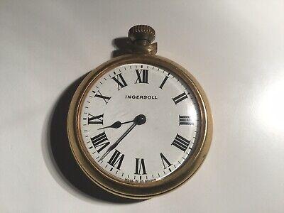 Vintage Ingersoll Gold Tone Pocket Watch