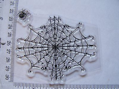 Halloween Spider Web Cut Out (Large Black Widow Spider Web + Spider Halloween Odd Loose Cut Out Clear)
