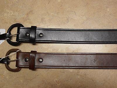 Mens Western Rodeo Brown Black Leather Cowboy Belt Buckle 1 1/2